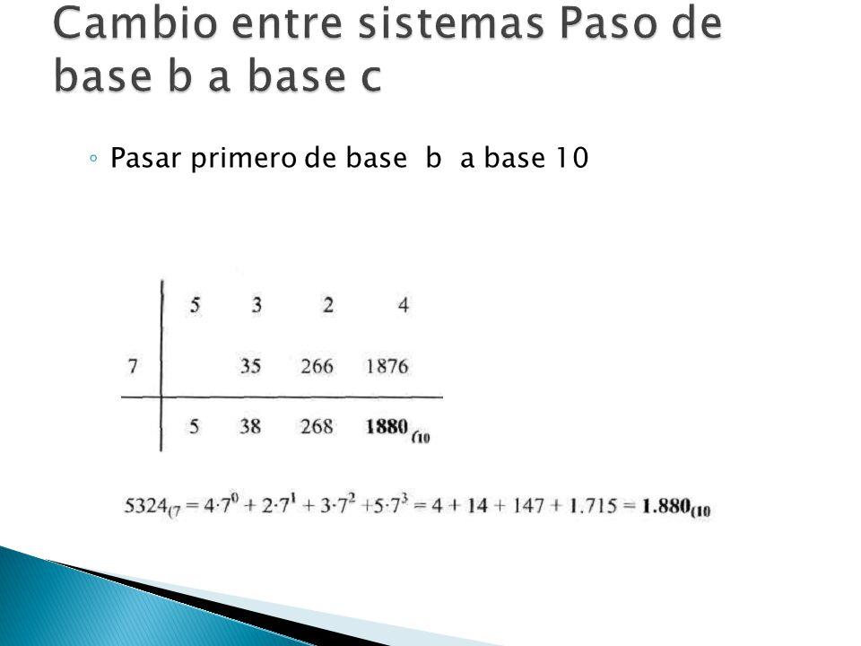 Pasar primero de base b a base 10