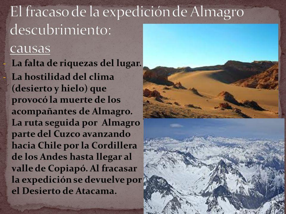 1._____ Almagro parte la expedición de la ciudad de Lima en Perú.