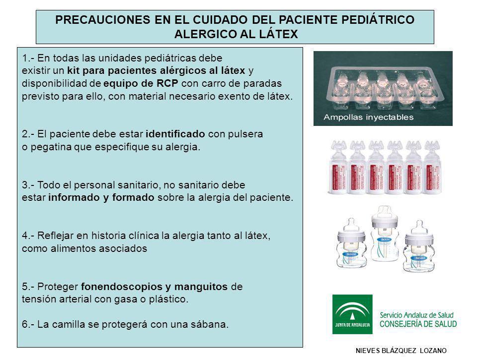 7.- Todos los viales de medicación deben ser de cristal, controlar los viales con tapón de caucho.