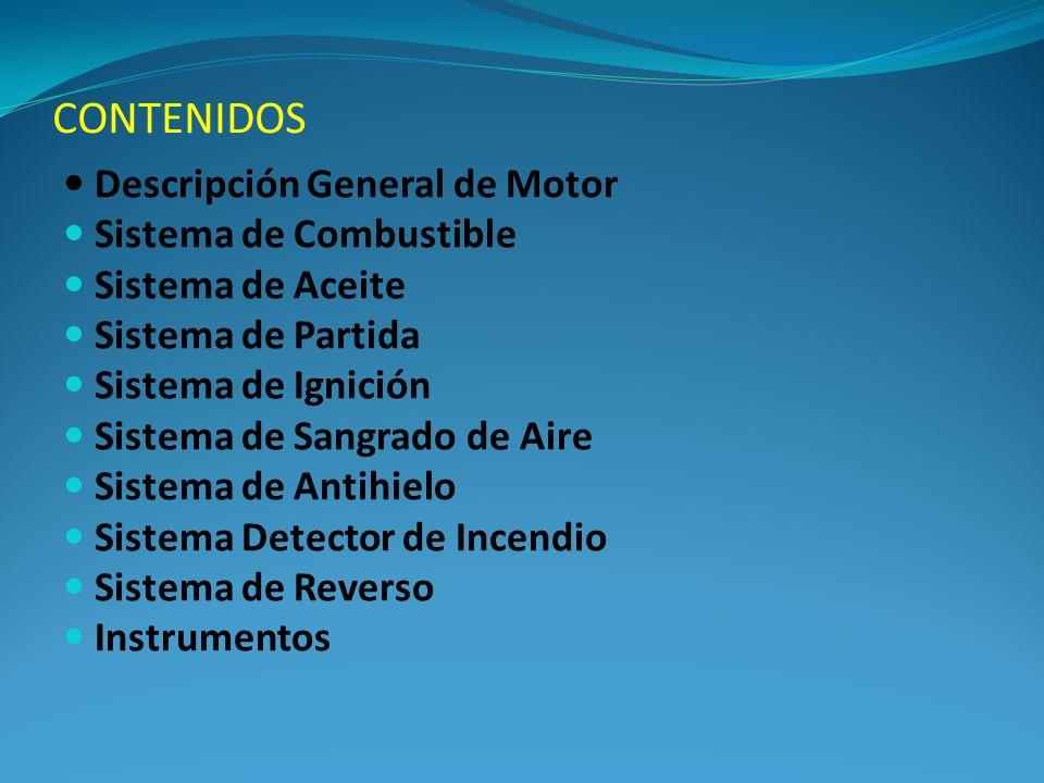 CONTENIDOS Descripción General de Motor Sistema de Combustible Sistema de Aceite Sistema de Partida Sistema de Ignición Sistema de Sangrado de Aire Si