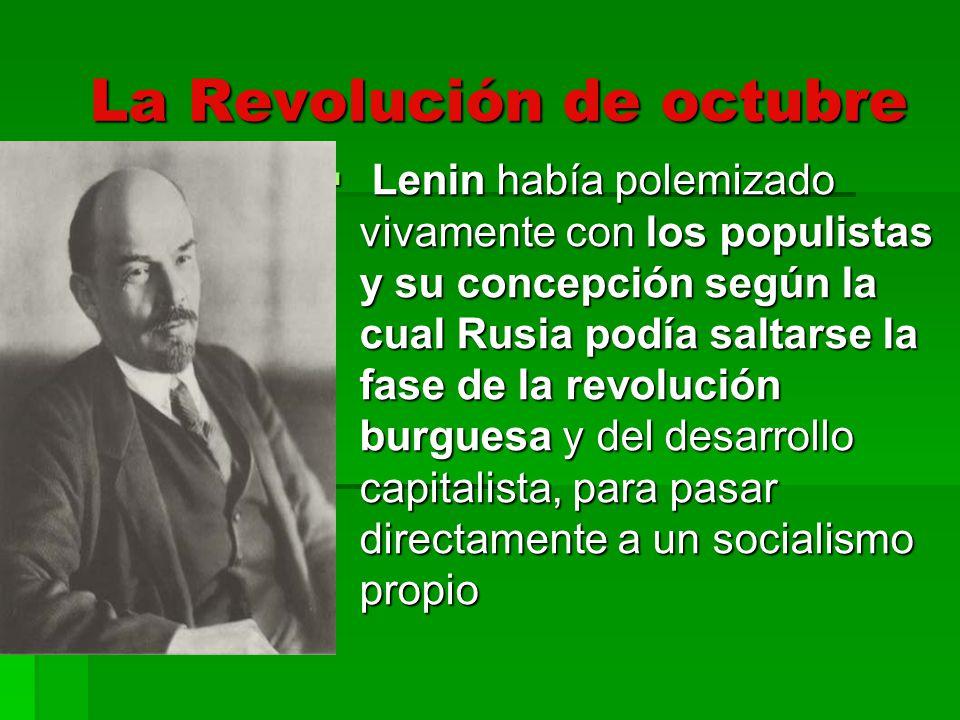 La consigna, que él enunció por primera vez en sus Tesis de abril, era, pues, todo el poder a los soviets.