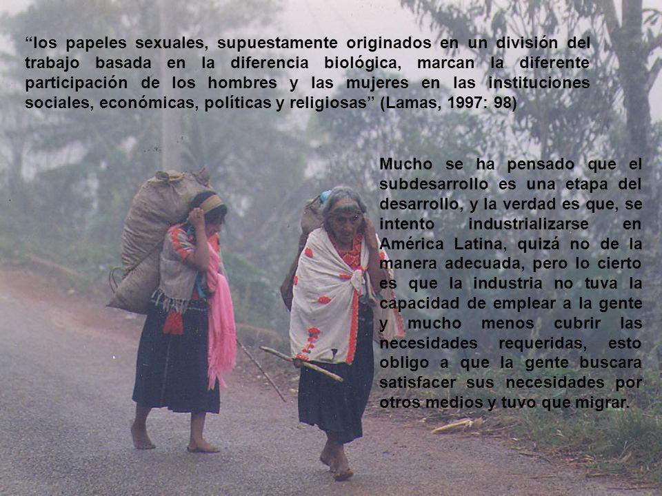 En el caso de las comunidades rurales, las mujeres toman un papel muy importante ya que su trabajo satisface necesidades y genera bienes y servicios para la familia.