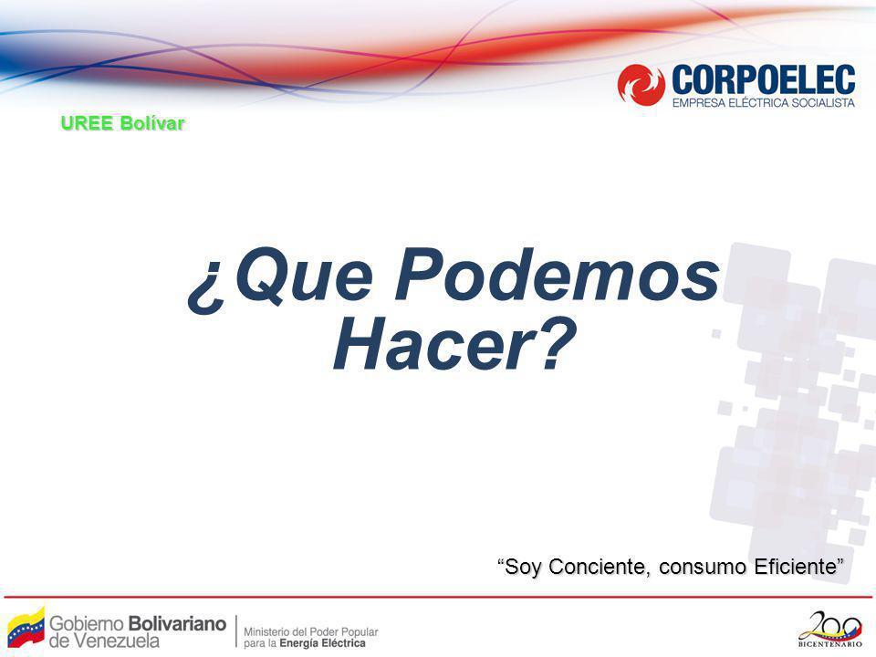¿Que Podemos Hacer? UREE Bolívar Soy Conciente, consumo Eficiente