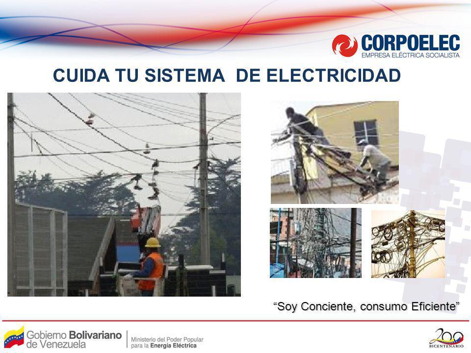 CUIDA TU SISTEMA DE ELECTRICIDAD Soy Conciente, consumo Eficiente