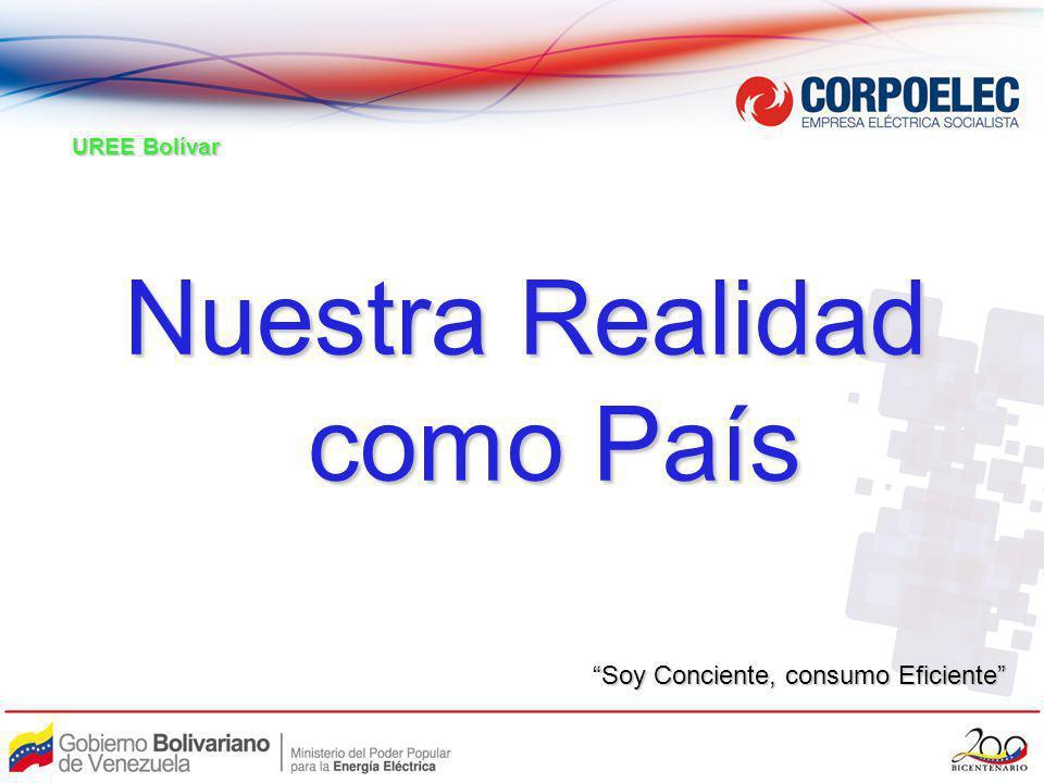 Nuestra Realidad como País como País UREE Bolívar Soy Conciente, consumo Eficiente