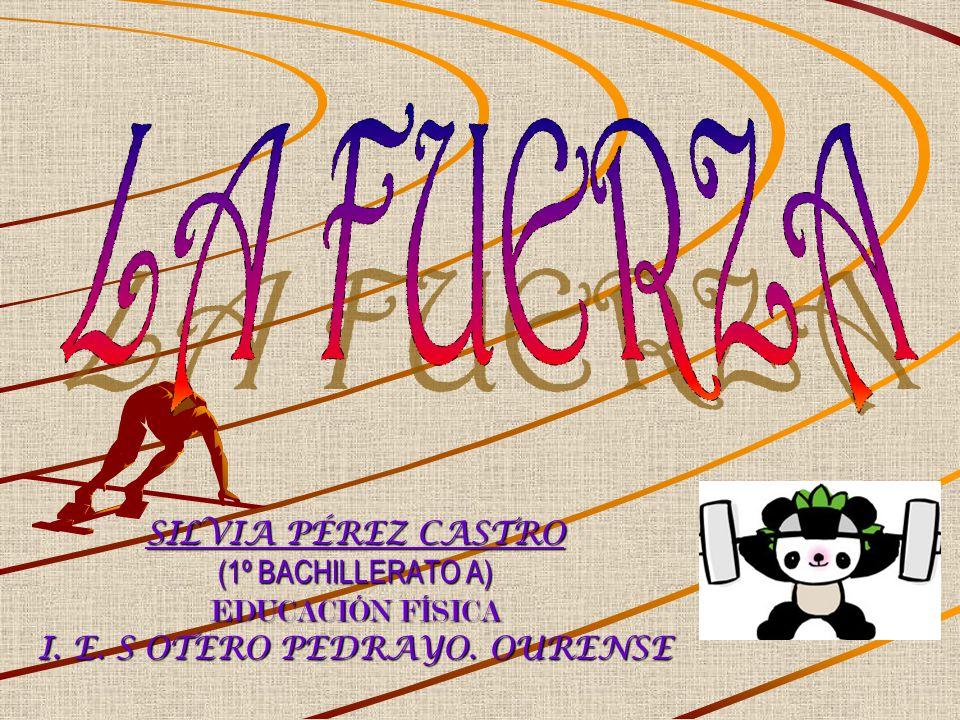 SILVIA PÉREZ CASTRO (1º BACHILLERATO A) EDUCACIÓN FÍSICA I. E. S OTERO PEDRAYO. OURENSE