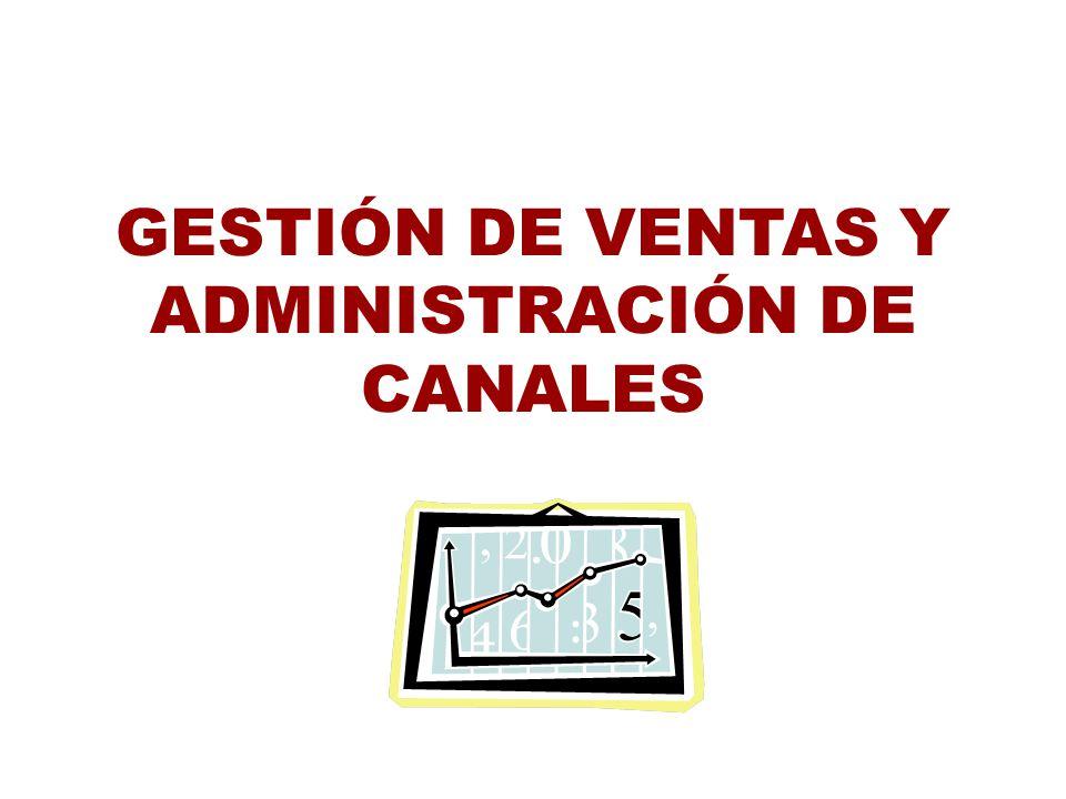 TEMA I GESTIÓN DE VENTAS Y ADMINISTRACIÓN DE CANALES