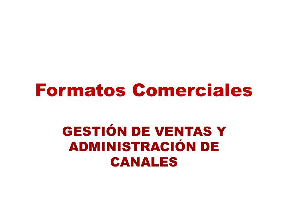 Formatos Comerciales GESTIÓN DE VENTAS Y ADMINISTRACIÓN DE CANALES