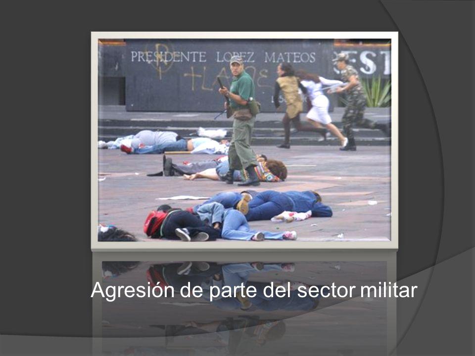 Agresión de parte del sector militar
