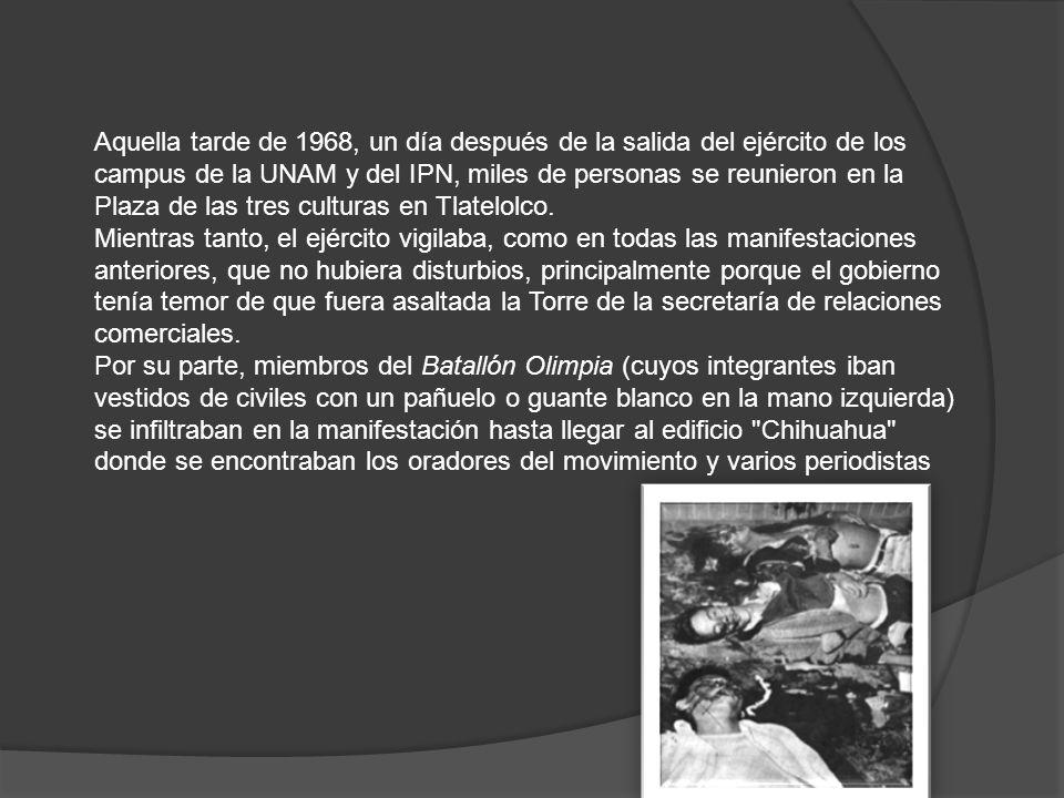 Aquella tarde de 1968, un día después de la salida del ejército de los campus de la UNAM y del IPN, miles de personas se reunieron en la Plaza de las