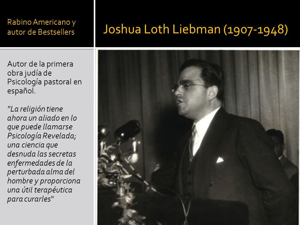 Rabino Americano y autor de Bestsellers Autor de la primera obra judía de Psicología pastoral en español.