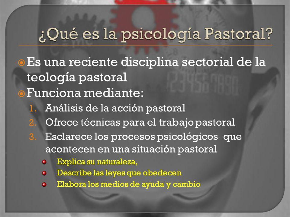 Es una reciente disciplina sectorial de la teología pastoral Funciona mediante: 1.