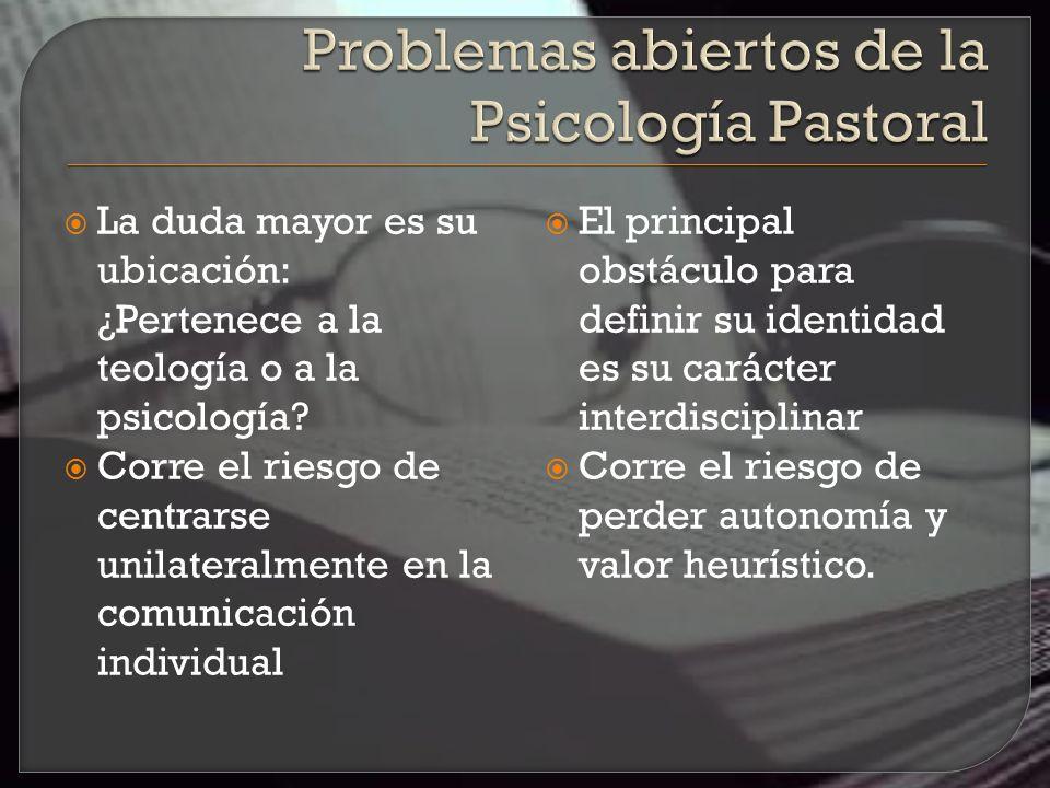 La Psicología Pastoral es una expresión de la creciente convicción de que el mensaje cristiano debe referirse a la totalidad de la personalidad, si es que va a ser un mensaje redentor en el mundo moderno .