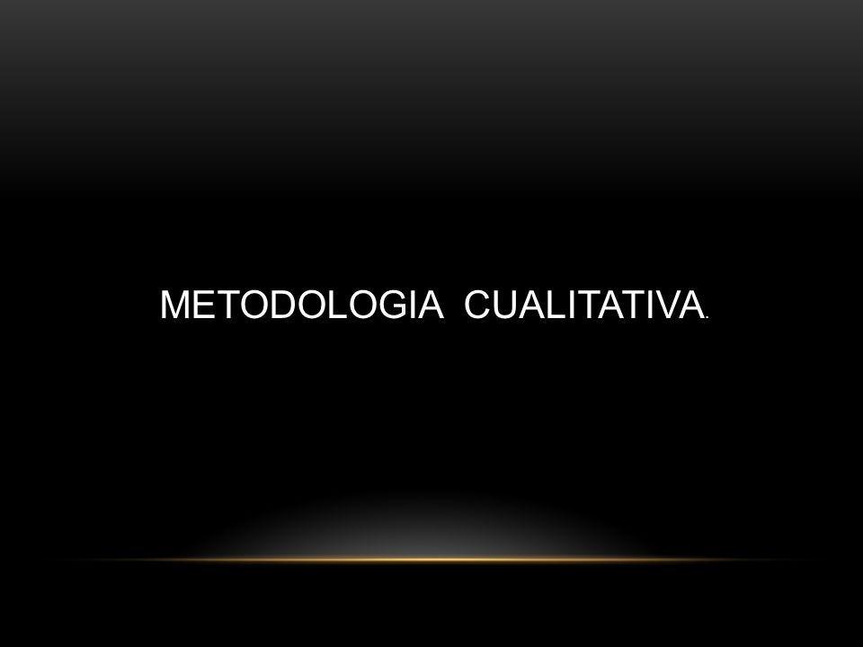 La metodología cualitativa se refiere en su mas amplio sentido a la investigación que produce datos descriptivos; las propias palabras de las personas, habladas o escritas, y la conducta observable.