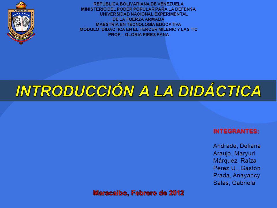 REPÚBLICA BOLIVARIANA DE VENEZUELA MINISTERIO DEL PODER POPULAR PARA LA DEFENSA UNIVERSIDAD NACIONAL EXPERIMENTAL DE LA FUERZA ARMADA MAESTRÍA EN TECN
