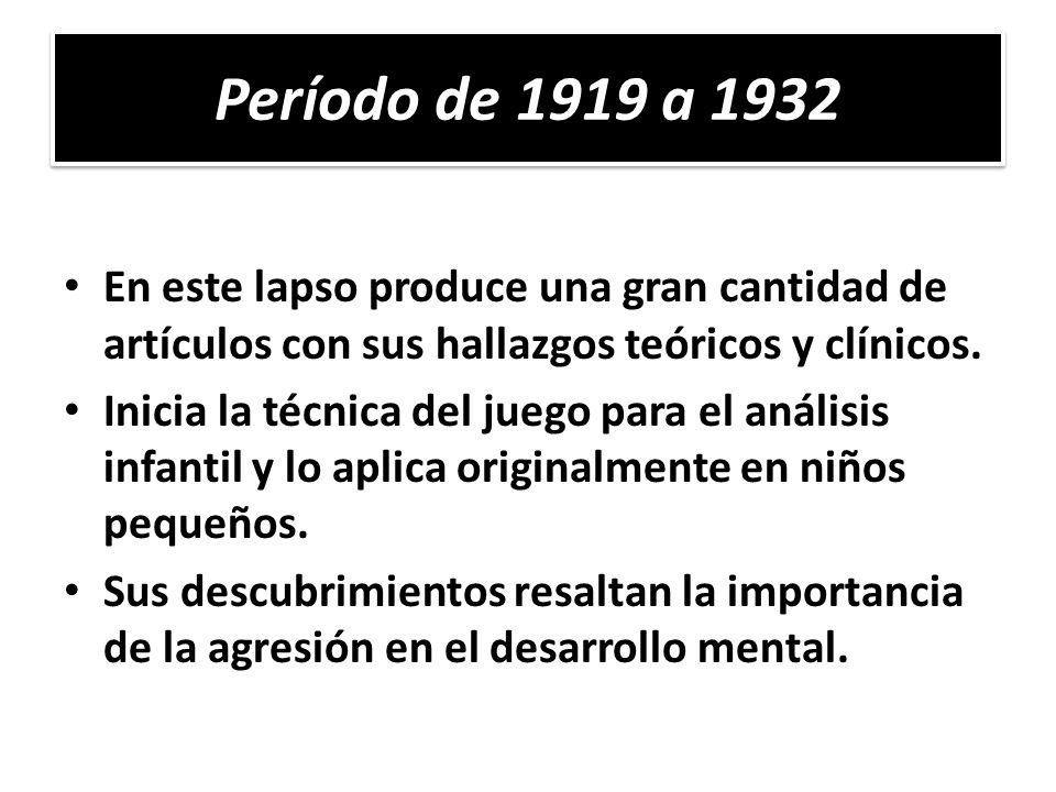 El caso Rita (2 años y 9 meses), analizada por Klein en 1923, marca el inicio de las características centrales de la técnica de juego.