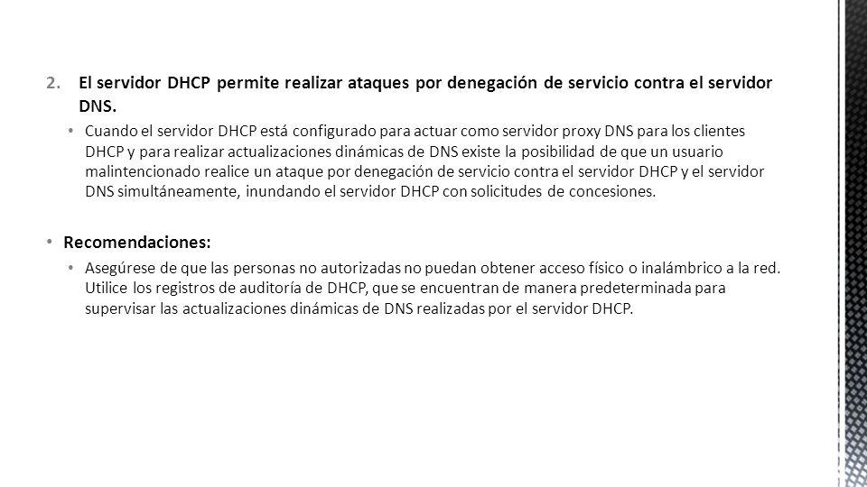 Un usuario no autorizado podría iniciar un ataque de denegación de servicio (DoS) basado en solicitar y obtener un gran número de direcciones IP.