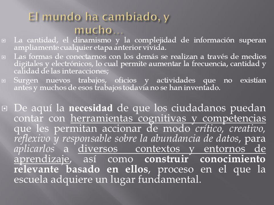 La cantidad, el dinamismo y la complejidad de información superan ampliamente cualquier etapa anterior vivida. Las formas de conectarnos con los demás