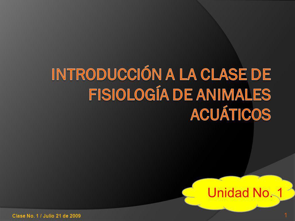 CONTENIDO DE LA UNIDAD Conceptos y principios básicos Anatomía general de animales acuáticos Diferencias entre el ambiente terrestre y el acuático 2