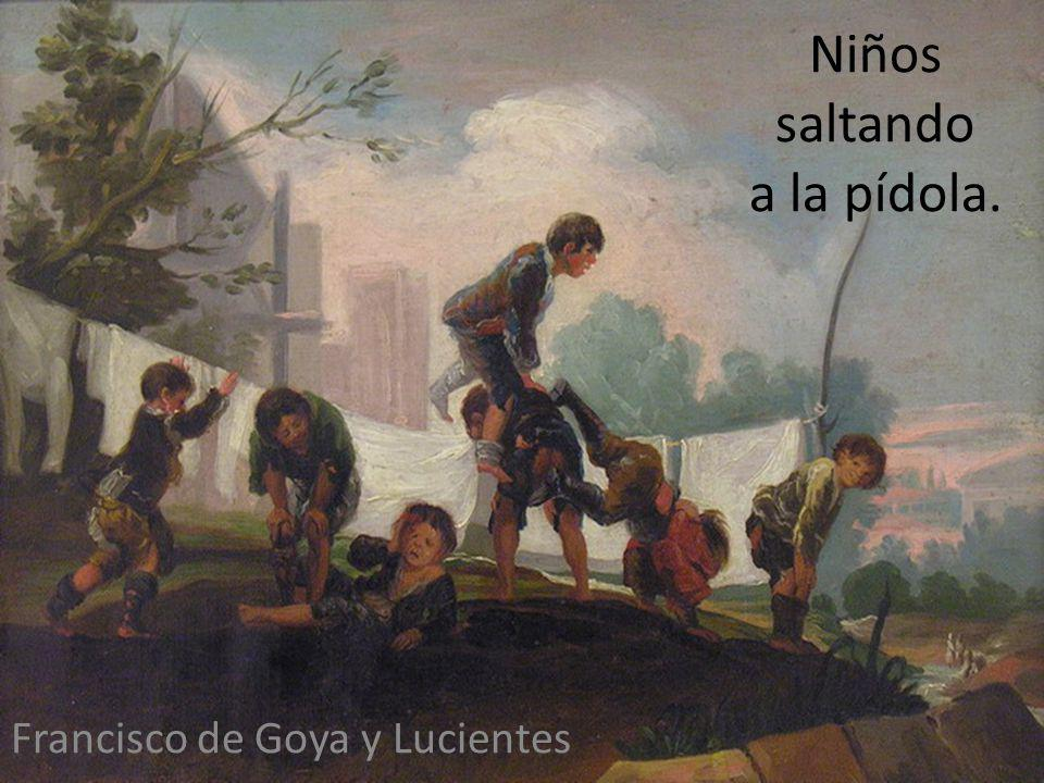 Niños saltando a la pídola. Francisco de Goya y Lucientes