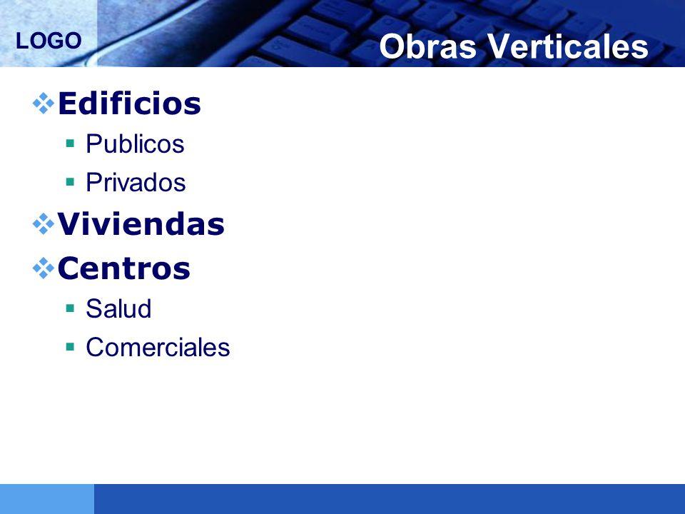 LOGO Obras Verticales Edificios Publicos Privados Viviendas Centros Salud Comerciales
