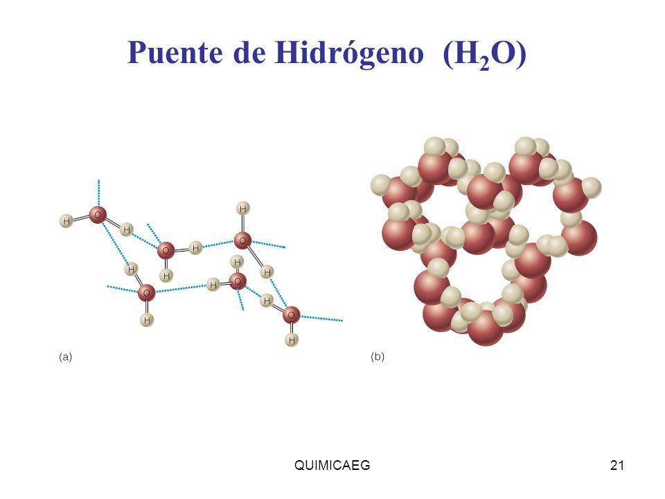 Insert figure 13.4 Puente de Hidrógeno (H 2 O) QUIMICAEG21