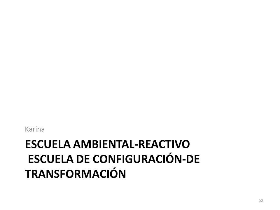 ESCUELA AMBIENTAL-REACTIVO ESCUELA DE CONFIGURACIÓN-DE TRANSFORMACIÓN Karina 52