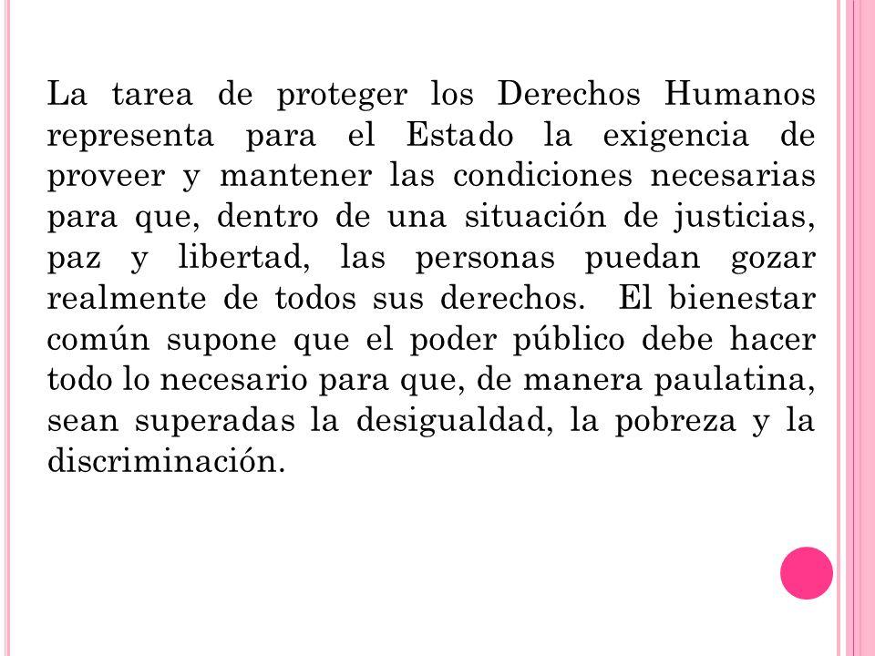 F UNCIONES La defensa o la protección de los Derechos Humanos tiene la función de: Contribuir al desarrollo integral de la persona.