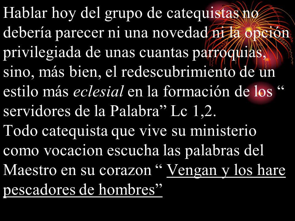 CATEQUISTAS.