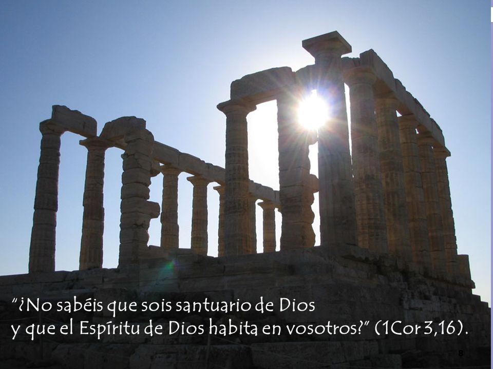 ¿No sabéis que sois santuario de Dios y que el Espíritu de Dios habita en vosotros? (1Cor 3,16). 8
