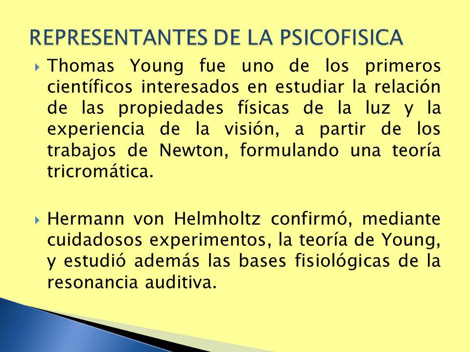 Thomas Young fue uno de los primeros científicos interesados en estudiar la relación de las propiedades físicas de la luz y la experiencia de la visió