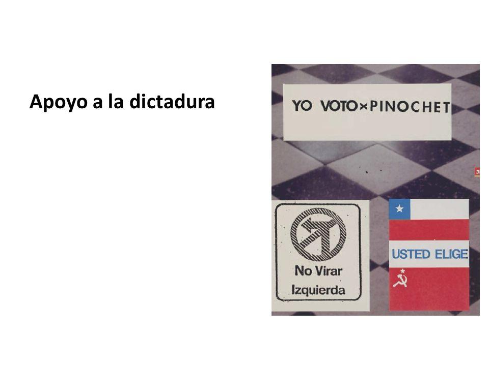 Apoyo a la dictadura