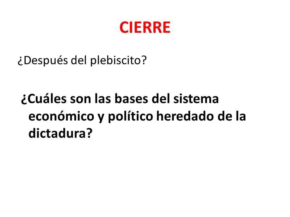 CIERRE ¿Después del plebiscito.
