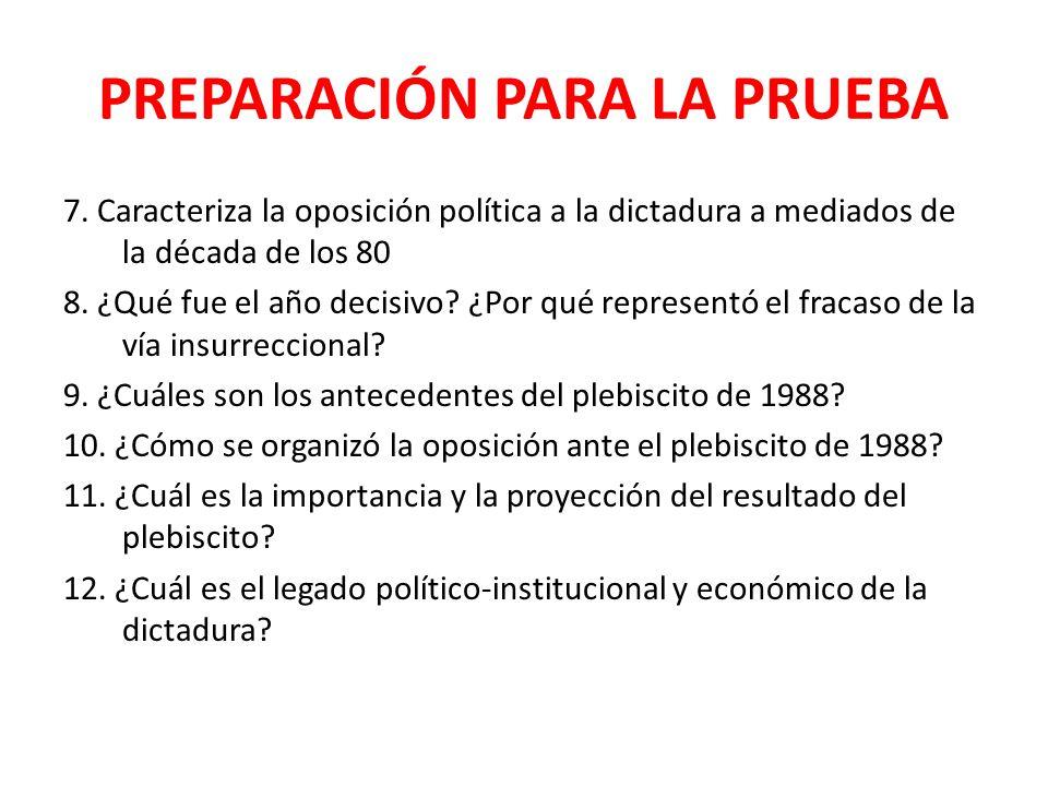 PREPARACIÓN PARA LA PRUEBA 7.