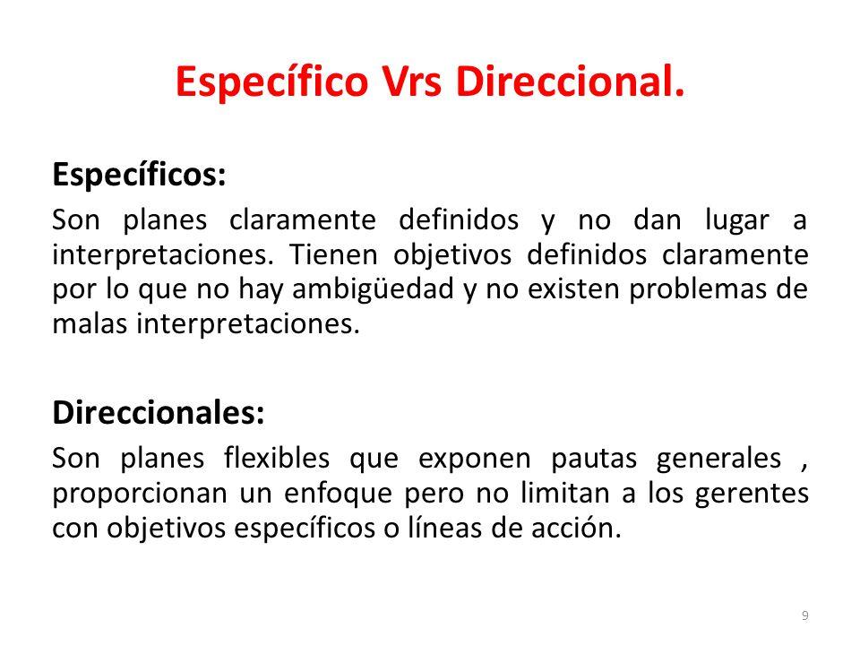 9 Específico Vrs Direccional.