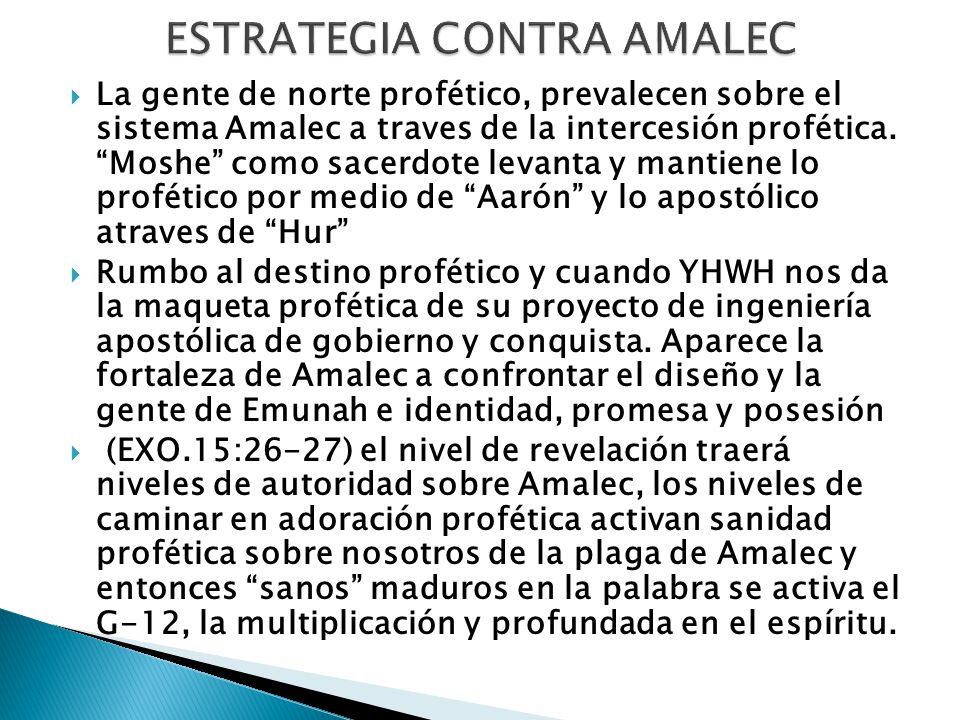 La gente de norte profético, prevalecen sobre el sistema Amalec a traves de la intercesión profética.
