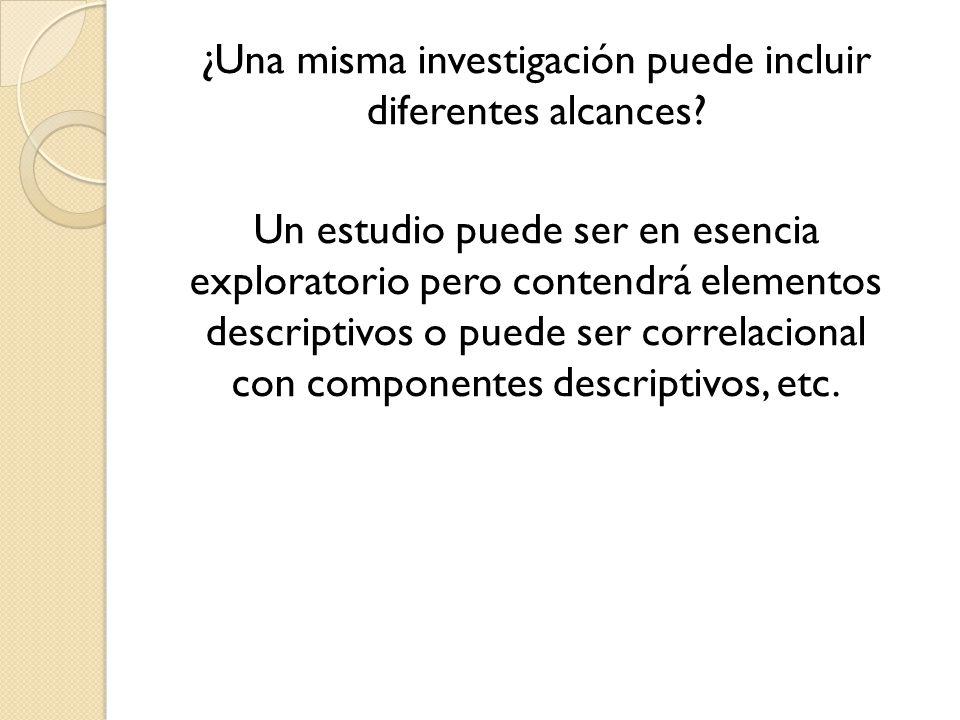 Propósitos y valor de los diferentes alcances las investigaciones.