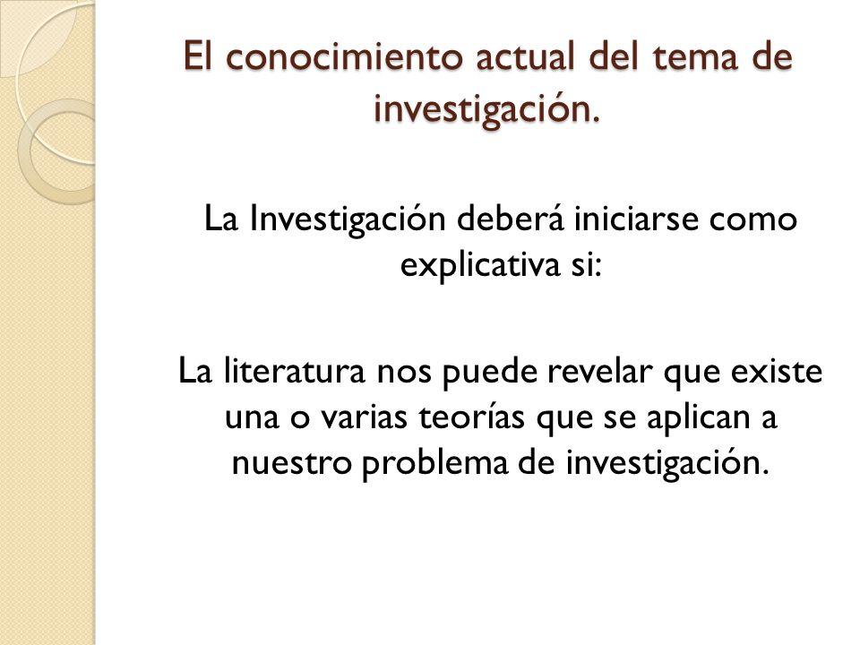 Tipo de Investigación Estudio Exploratorio Nivel de conocimiento del tema:No hay antecedentes del tema en particular.