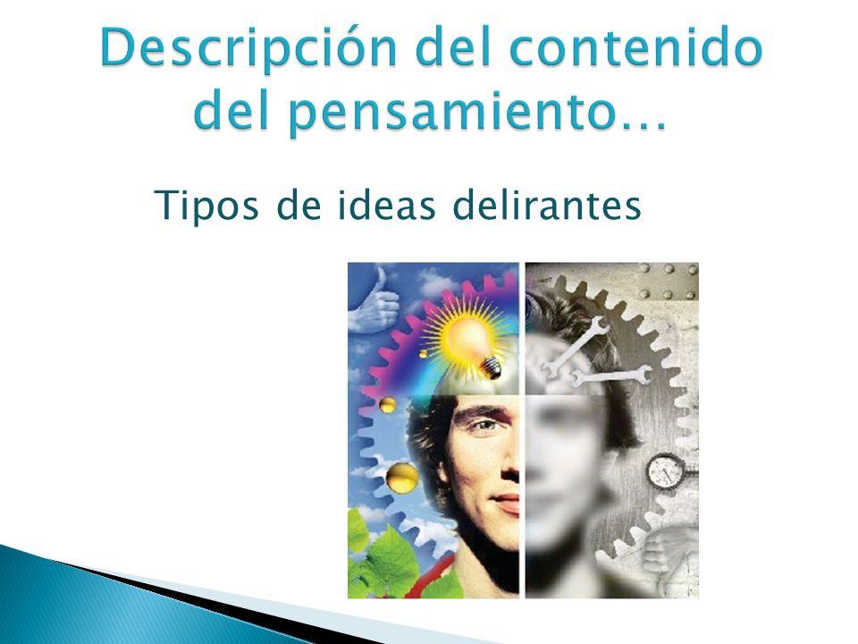 Tipos de ideas delirantes