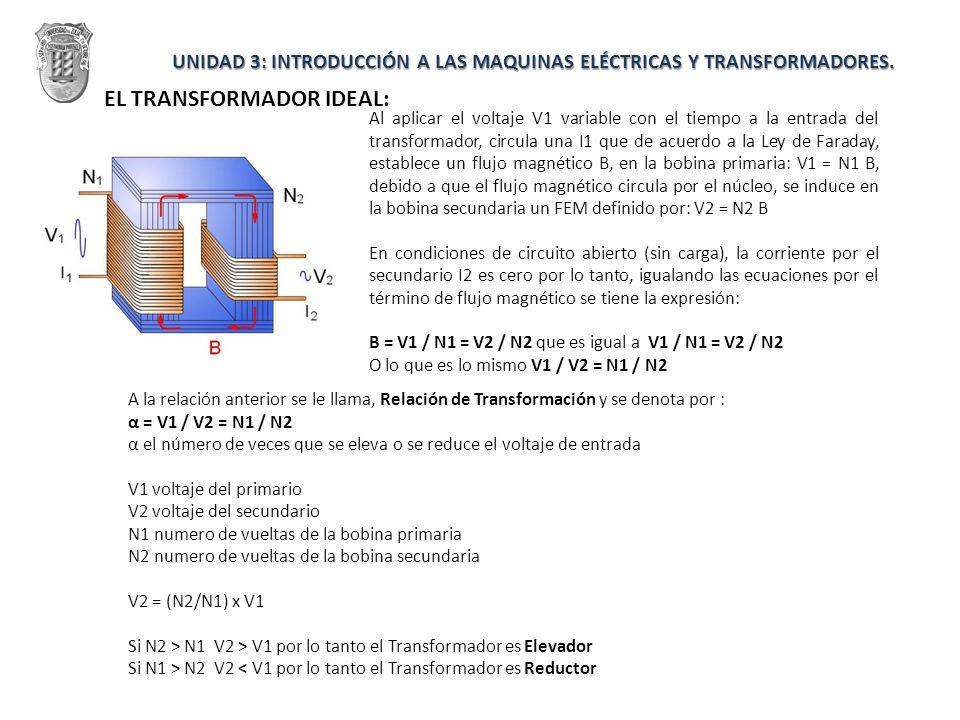 Al aplicar el voltaje V1 variable con el tiempo a la entrada del transformador, circula una I1 que de acuerdo a la Ley de Faraday, establece un flujo