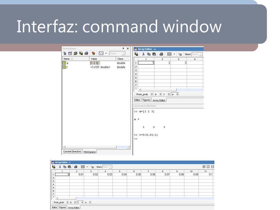 Interfaz: command window