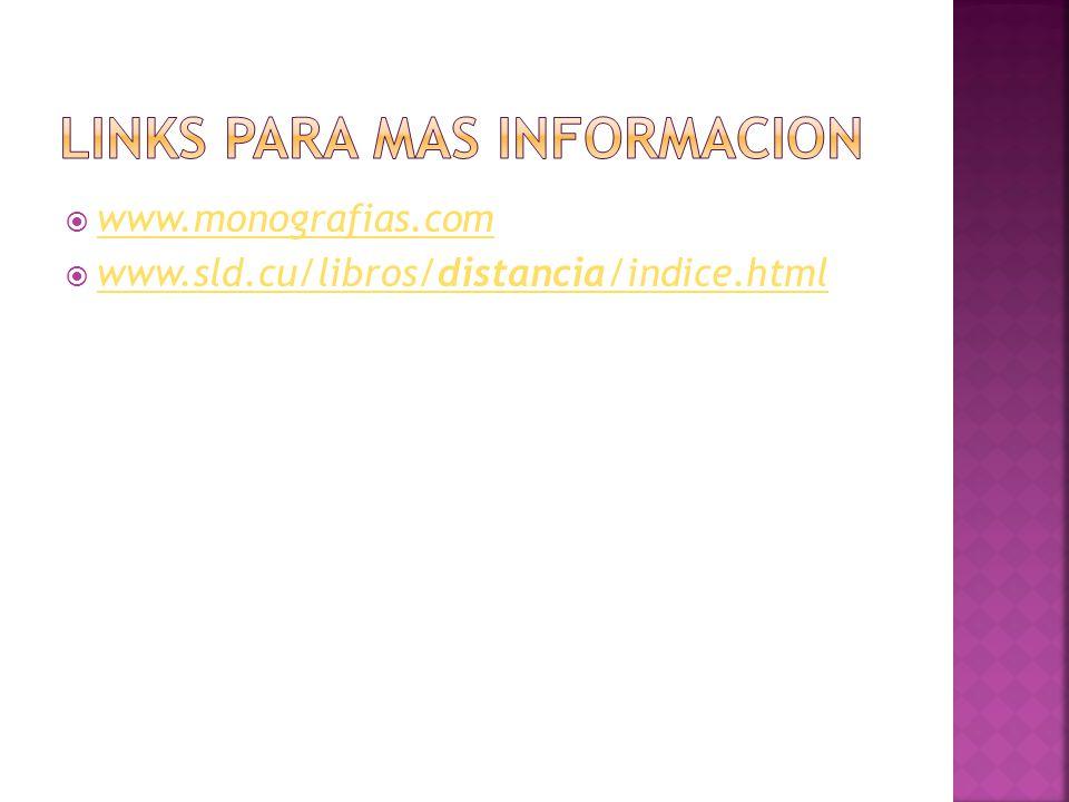 www.monografias.com www.sld.cu/libros/distancia/indice.html www.sld.cu/libros/distancia/indice.html