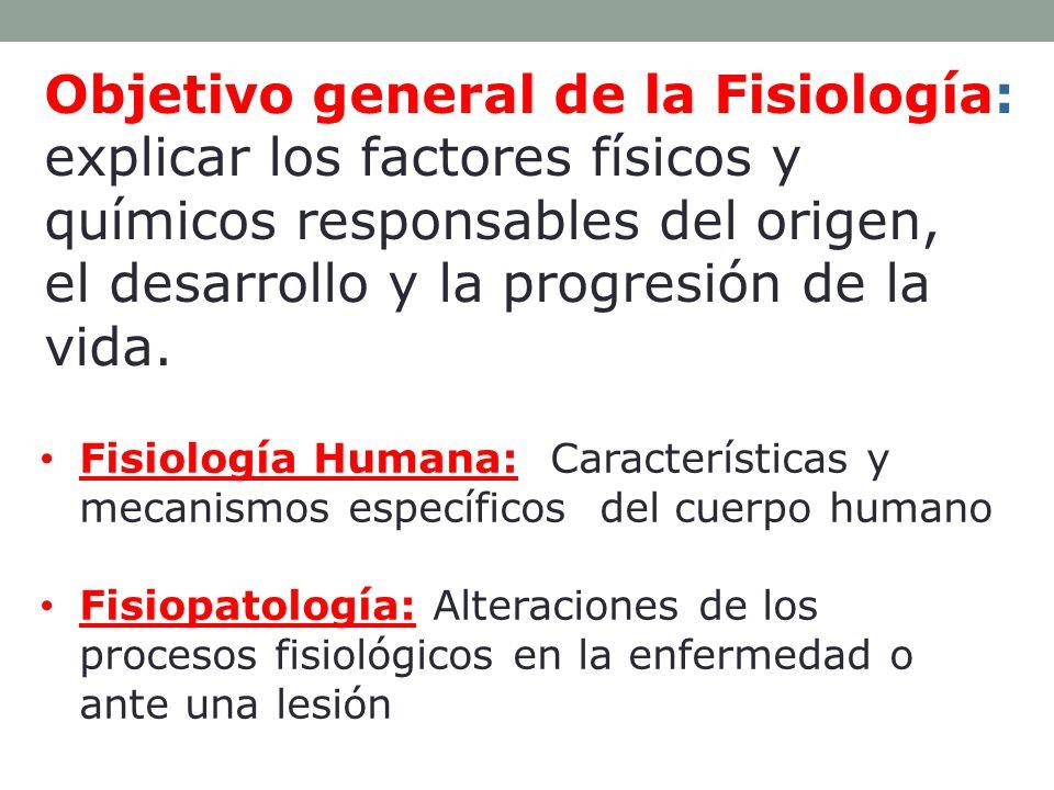 Fisiología Determinación de las funciones de cada uno de los sistemas orgánicos Relación entre estructura y función Divisiones: F.