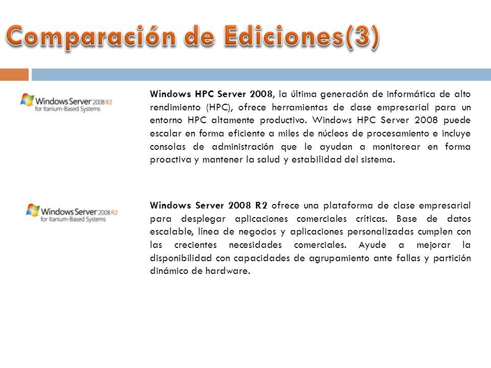 Windows HPC Server 2008, la última generación de informática de alto rendimiento (HPC), ofrece herramientas de clase empresarial para un entorno HPC altamente productivo.