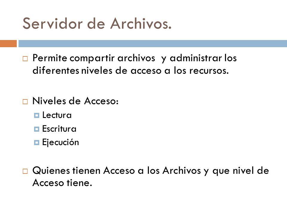 Servidor de Archivos.