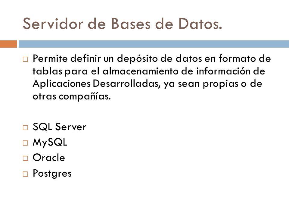 Servidor de Bases de Datos.