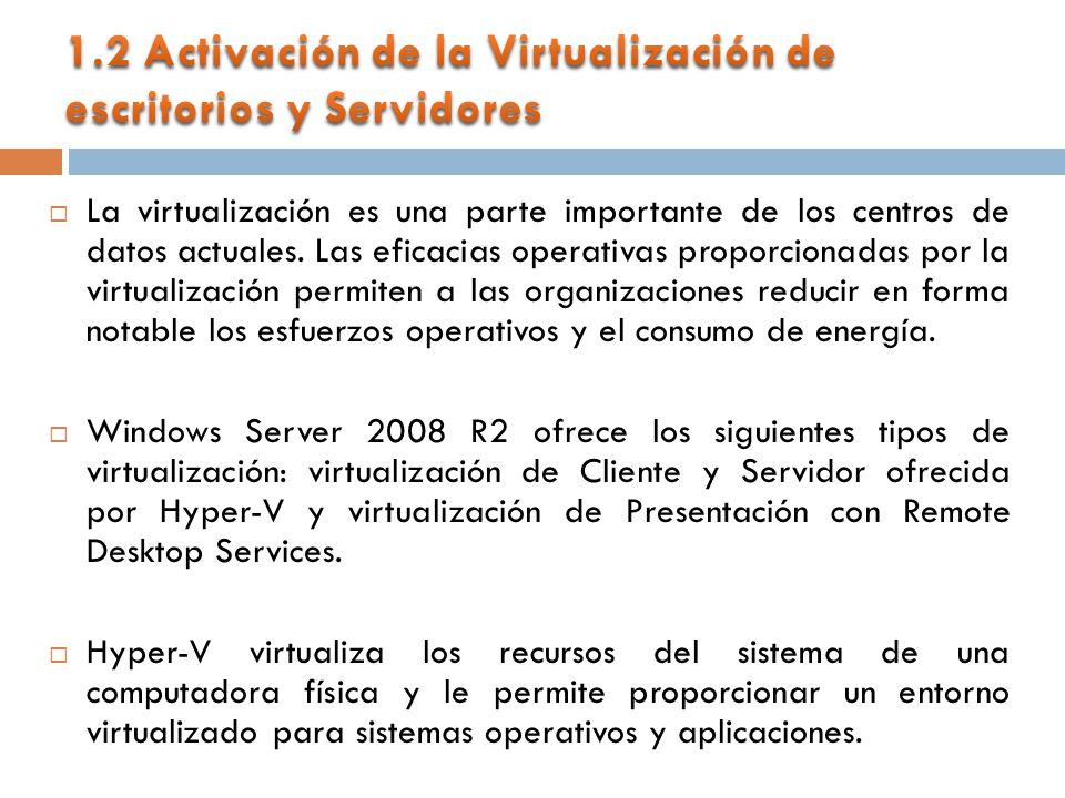 La virtualización es una parte importante de los centros de datos actuales.