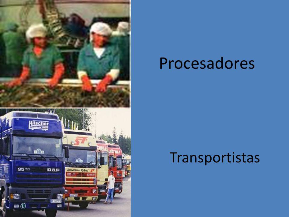 Procesadores Transportistas