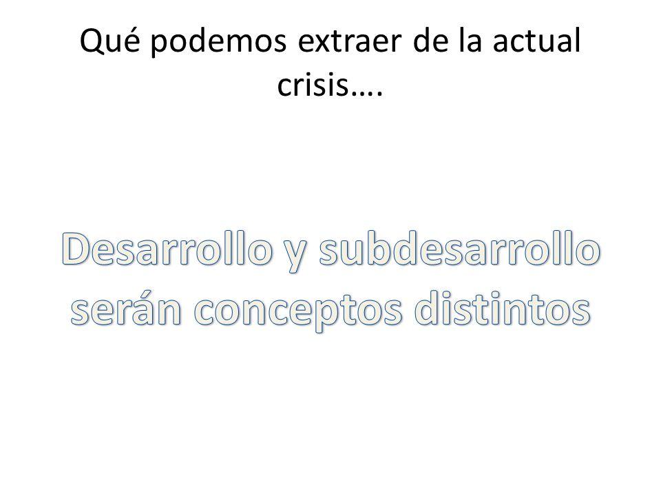 Qué podemos extraer de la actual crisis….
