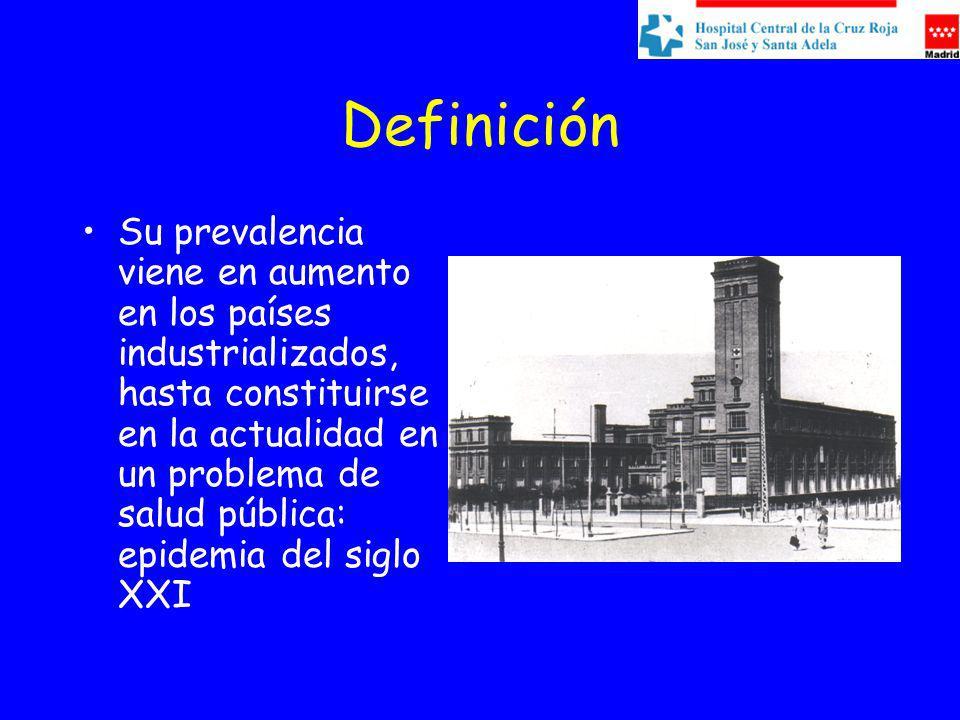 Definición Su prevalencia viene en aumento en los países industrializados, hasta constituirse en la actualidad en un problema de salud pública: epidemia del siglo XXI